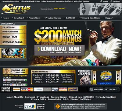 Cirrus Casino Auszahlung